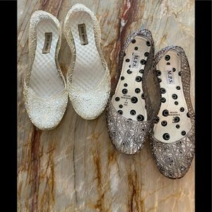 2 Pairs of Jellee Shoes - Size 10